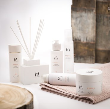 Mylene products on a table